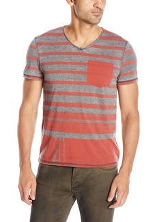 Buffalo Jeans Buffalo David Bitton Men's Kaburn Short Sleeve Vneck Burnout Jersey Knit Shirt
