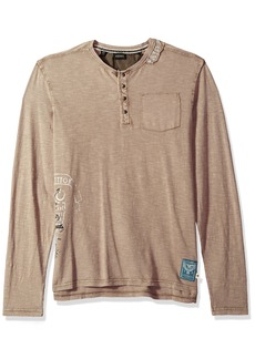 Buffalo Jeans Buffalo David Bitton Men's Kative Long Sleeve Henley Pocket Knit Top