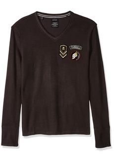 Buffalo Jeans Buffalo David Bitton Men's Kilitary LS Slub V-Neck Graphic Fashion Knit Shirt