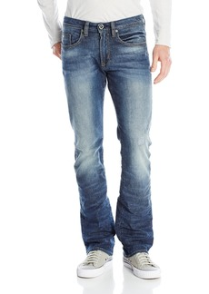 Buffalo Jeans Buffalo David Bitton Men's King Slim Boot Cut Jean Washed and Torn 36x30