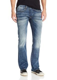 Buffalo Jeans Buffalo David Bitton Men's King Slim Fit Bootcut Jean Light and Blasted Wash 38x30