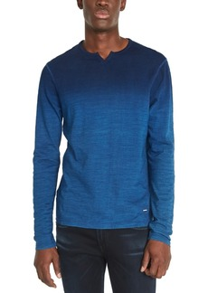 Buffalo Jeans Buffalo David Bitton Men's Kisap Dip-Dyed Split-Neck T-Shirt