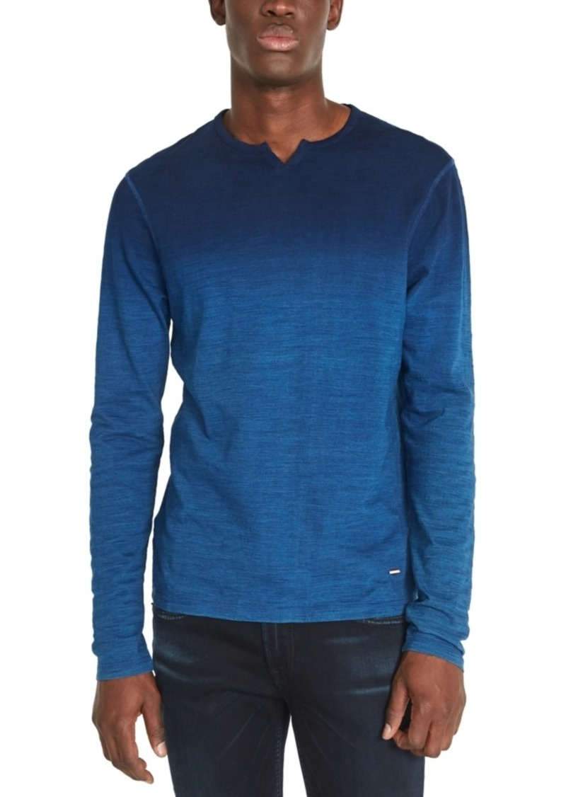 Buffalo Jeans Buffalo David Bitton Men's Kisap Dip-Dyed Split-Neck T-Shirt