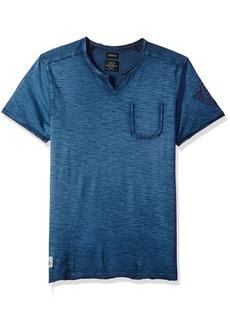 Buffalo Jeans Buffalo David Bitton Men's Kivault Short Sleeve Slit Neck Fashion Knit Shirt