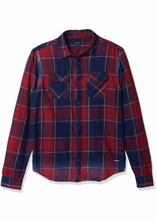 Buffalo Jeans Buffalo David Bitton Men's Long Sleeve Button Down denimex Shirt  XL