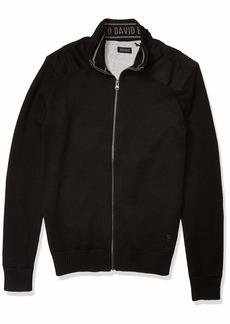 Buffalo Jeans Buffalo David Bitton Men's Long Sleeve Zipper Down Silicon wash Sweater