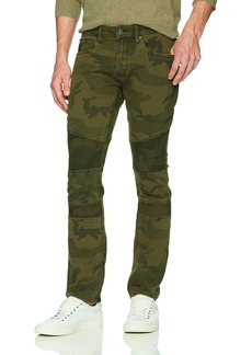 Buffalo Jeans Buffalo David Bitton Men's Max-x Skinny Fit Stone Washed Denim Pant Army Green camo 36x32