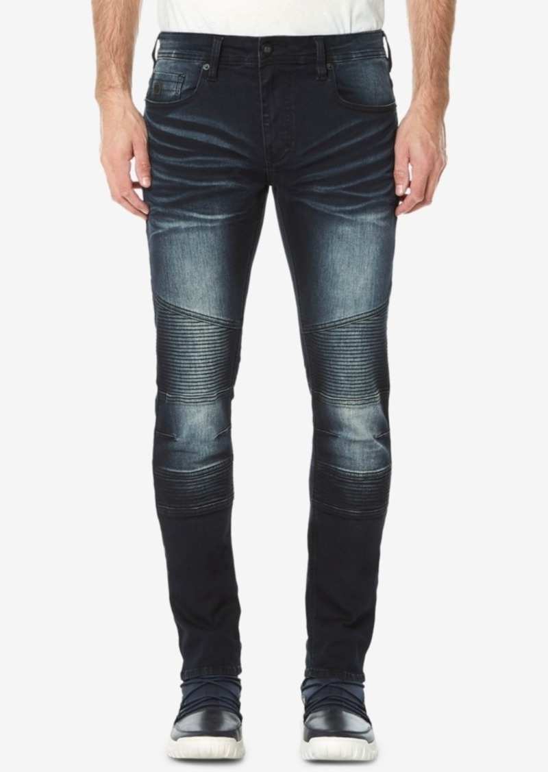 Buffalo Jeans Buffalo David Bitton Men's Max-x Skinny-Fit Stretch Moto Jeans