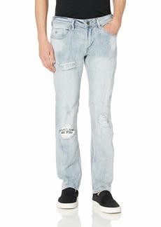 Buffalo Jeans Buffalo David Bitton Men's Max-X Skinny Jean in ressler Fabric Crinkled and Sanded indigo 36w x 32L