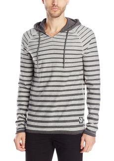 Buffalo Jeans Buffalo David Bitton Men's Nalexo Long Sleeve Striped Hooded Knit Shirt