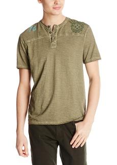Buffalo Jeans Buffalo David Bitton Men's Nishi Henley Short Sleeve Knit Shirt
