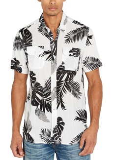 Buffalo Jeans Buffalo David Bitton Men's Palm Leaf Print Shirt