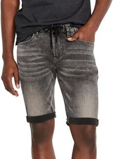 Buffalo Jeans Buffalo David Bitton Men's Parker-x Slim-Fit Black Acid Wash Denim Shorts