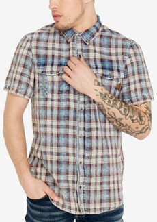 Buffalo Jeans Buffalo David Bitton Men's Raw Edge Plaid Shirt