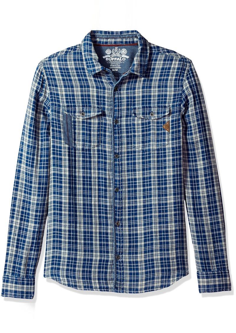 Buffalo Jeans Buffalo David Bitton Men's Sabera Ss Regular Fit Washed Plaid Button Down Shirt