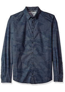 Buffalo Jeans Buffalo David Bitton Men's Sadern Long Sleeve Full Button Down Shirt