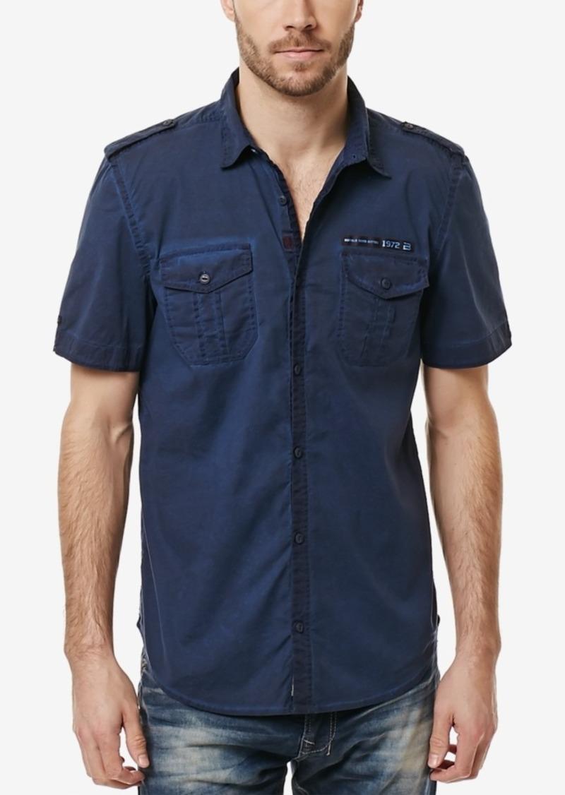 Buffalo Jeans Buffalo David Bitton Men's Safic Short-Sleeve Stretch Shirt