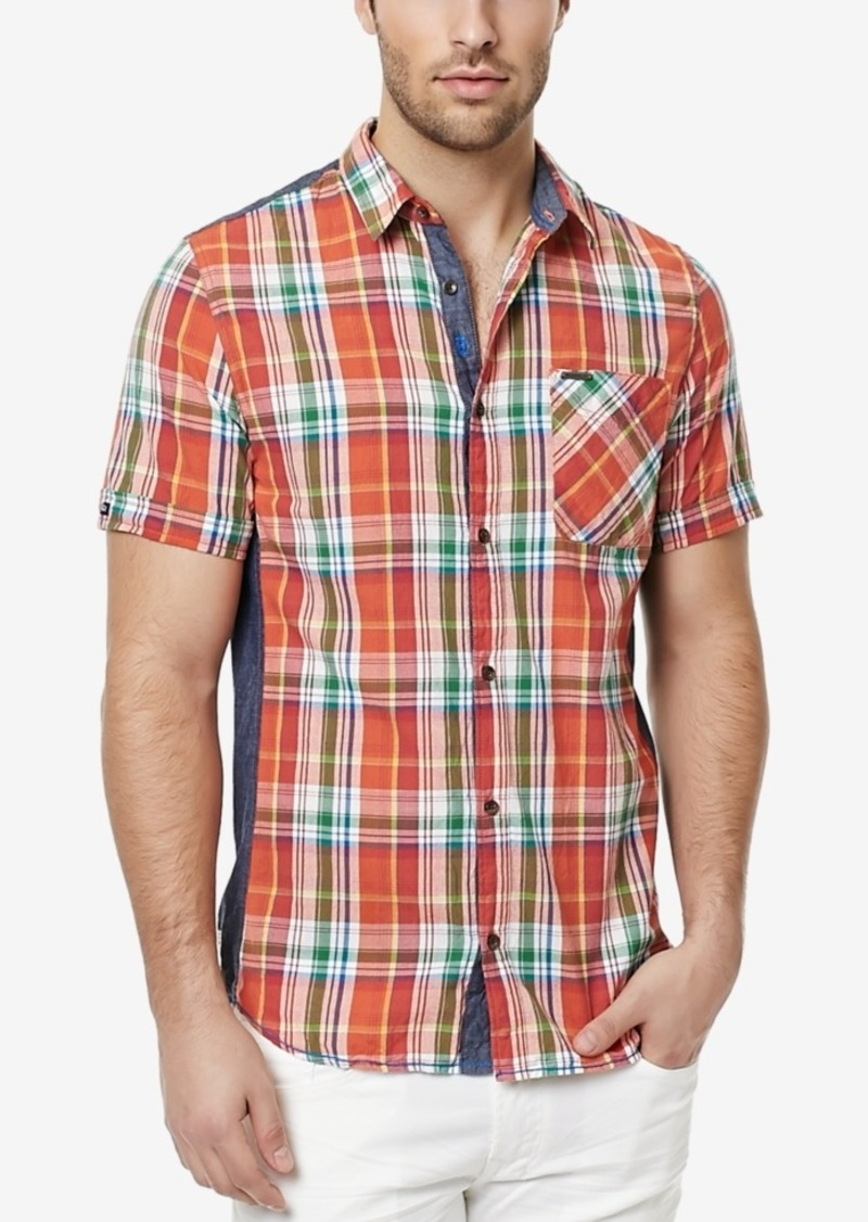 Buffalo Jeans Buffalo David Bitton Men's Safret Plaid Short-Sleeve Shirt