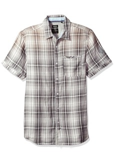 Buffalo Jeans Buffalo David Bitton Men's Sagnessa Short Sleeve Plaid Button Down Shirt