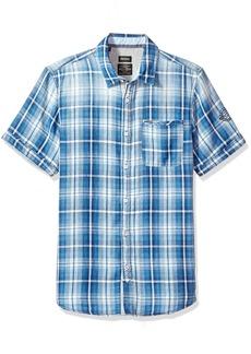Buffalo Jeans Buffalo David Bitton Men's Sagnessa Short Sleeve Plaid Button Down Shirt