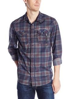 Buffalo Jeans Buffalo David Bitton Men's Sagriz Long Sleeve Plaid Poplin Shirt