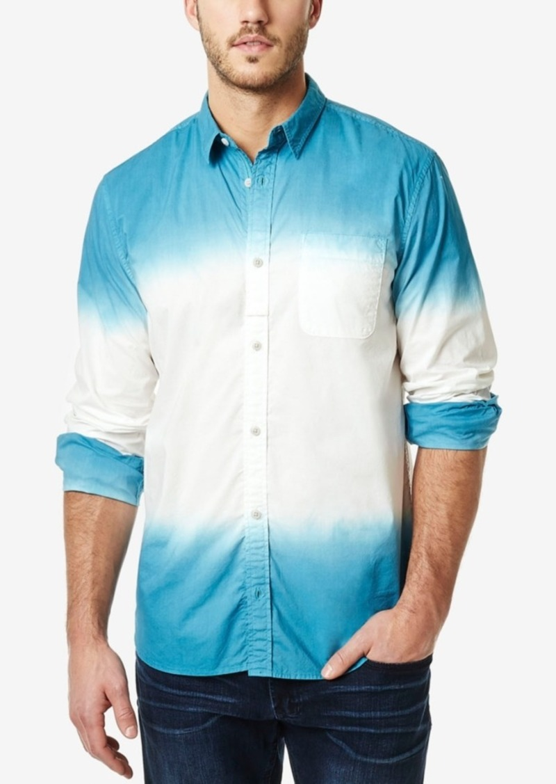 Buffalo Jeans Buffalo David Bitton Men's Sagum Dip-Dye Colorblocked Long-Sleeve Shirt