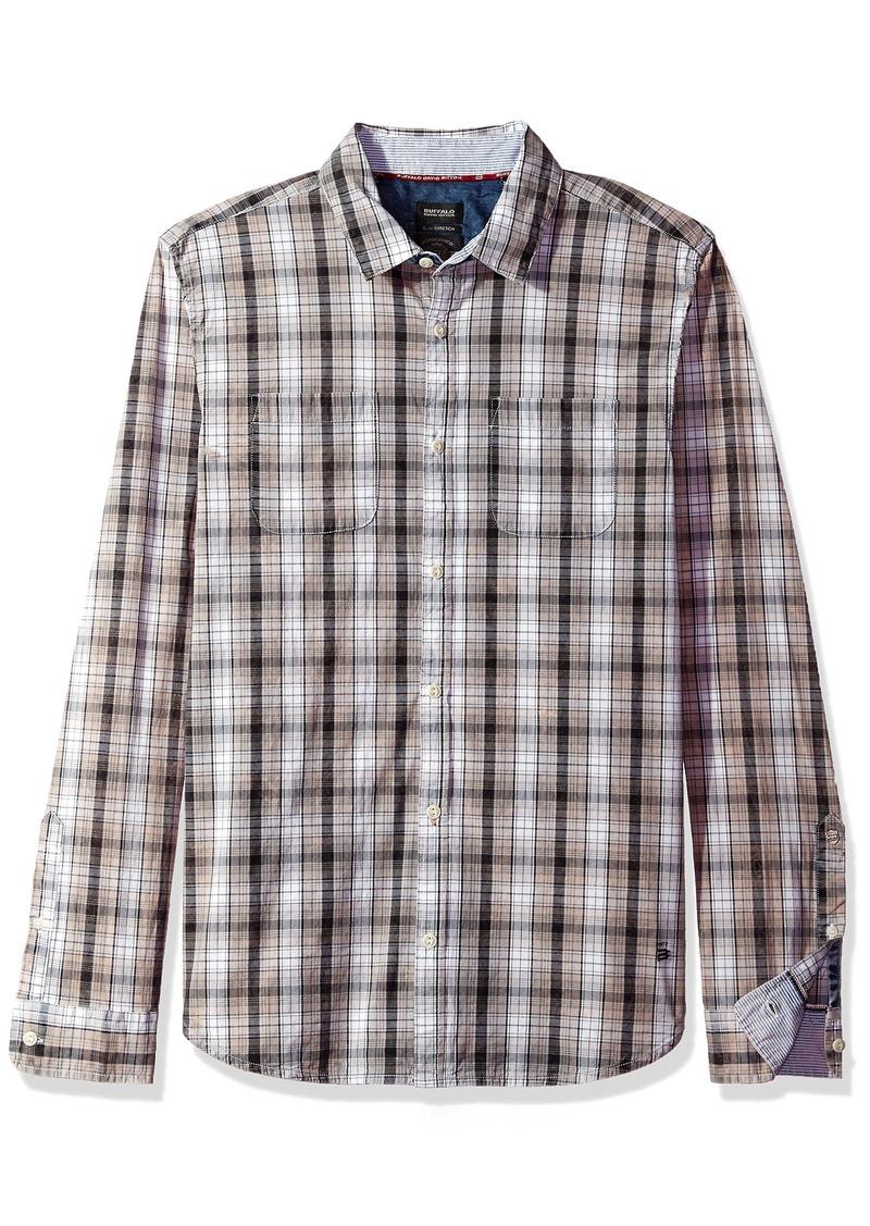 Buffalo Jeans Buffalo David Bitton Men's Saiver Long Sleeve Full Button Down Shirt