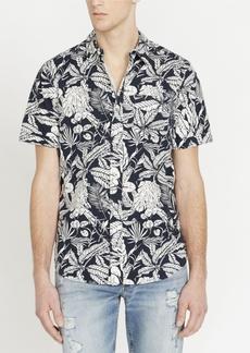 Buffalo Jeans Buffalo David Bitton Men's Sajat Printed Short Sleeve Woven Shirt