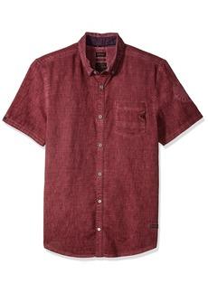 Buffalo Jeans Buffalo David Bitton Men's Sakuli Short Sleeve Solid Fashion Button Down Shirt