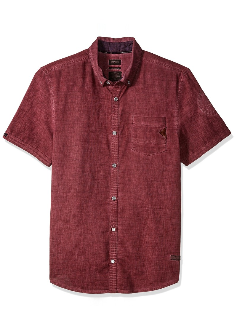Buffalo Jeans Buffalo David Bitton Men's Sakuli Short Sleeve Solid Fashion Button Down Shirt