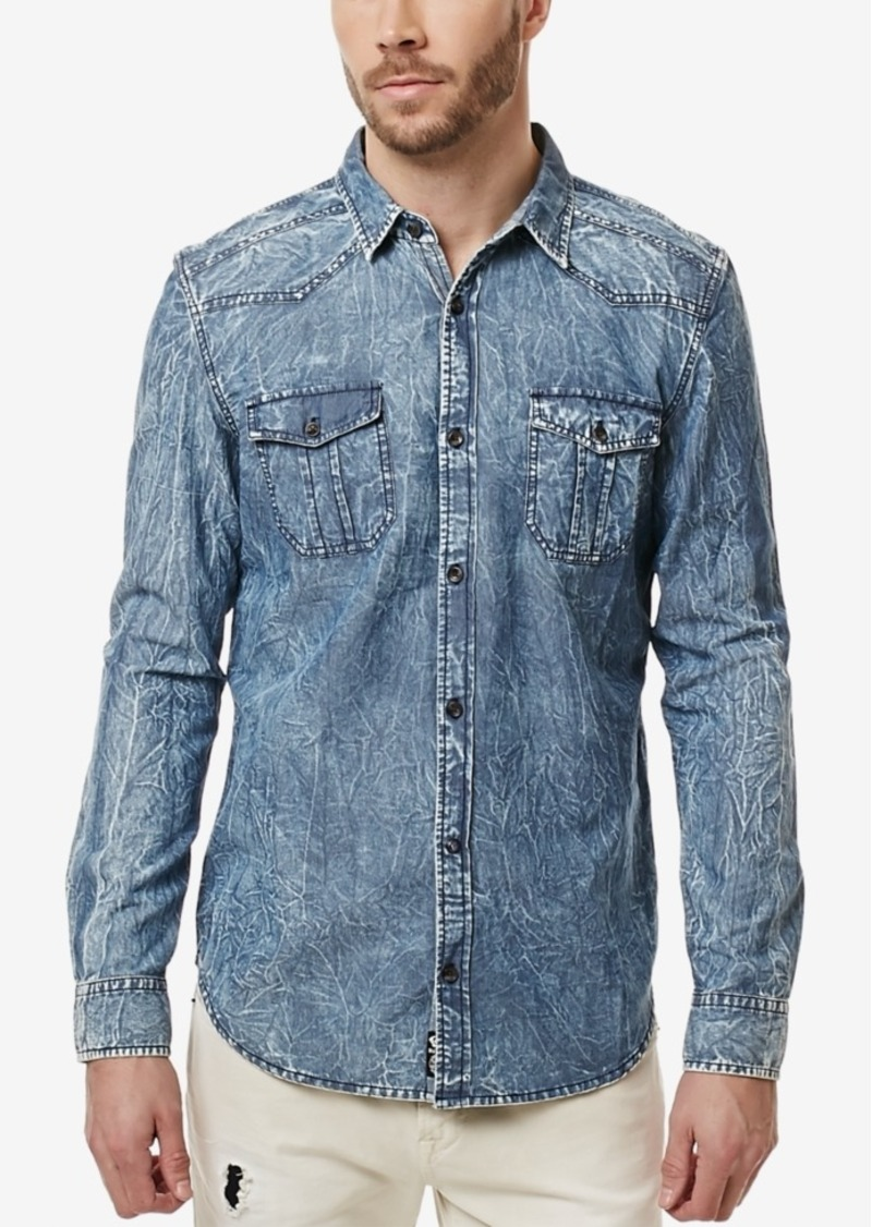 Buffalo Jeans Buffalo David Bitton Men's Salar Chambray Long-Sleeve Shirt