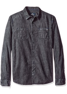 Buffalo Jeans Buffalo David Bitton Men's Salixto Long Sleeve Denim Woven Shirt