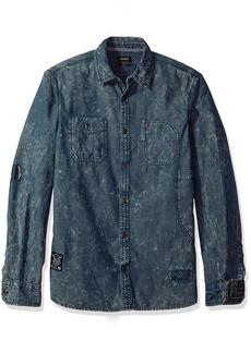 Buffalo Jeans Buffalo David Bitton Men's Sandez Long Sleeve Fashion Woven Shirt