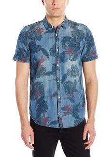 Buffalo Jeans Buffalo David Bitton Men's Saoriden Short Sleeve Fashion Button Down Shirt