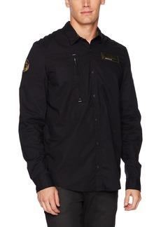 Buffalo Jeans Buffalo David Bitton Men's Sarkiz-x Ls Regular Stretch Poplin Button Down Shirt