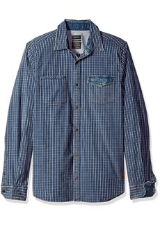 Buffalo Jeans Buffalo David Bitton Men's Saugo-x Ss Slim Stretch Washed Plaid Button Down Shirt