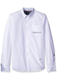 Buffalo Jeans Buffalo David Bitton Men's Savans Long Sleeve Fashion Basic Woven Shirt