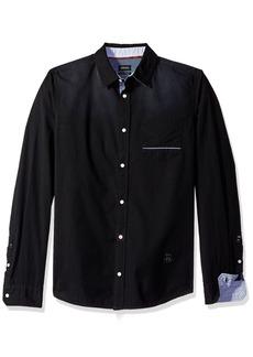 Buffalo Jeans Buffalo David Bitton Men's Savans Long Sleeve Fashion Basic Woven Shirt