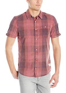 Buffalo Jeans Buffalo David Bitton Men's Savilica Short Sleeve Fashion Plaid Button Down Shirt
