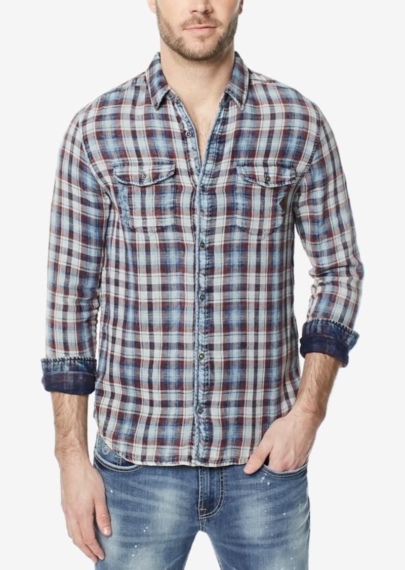 356254aadf Buffalo Jeans Buffalo David Bitton Men s Sawitan Plaid Elbow-Patch Shirt