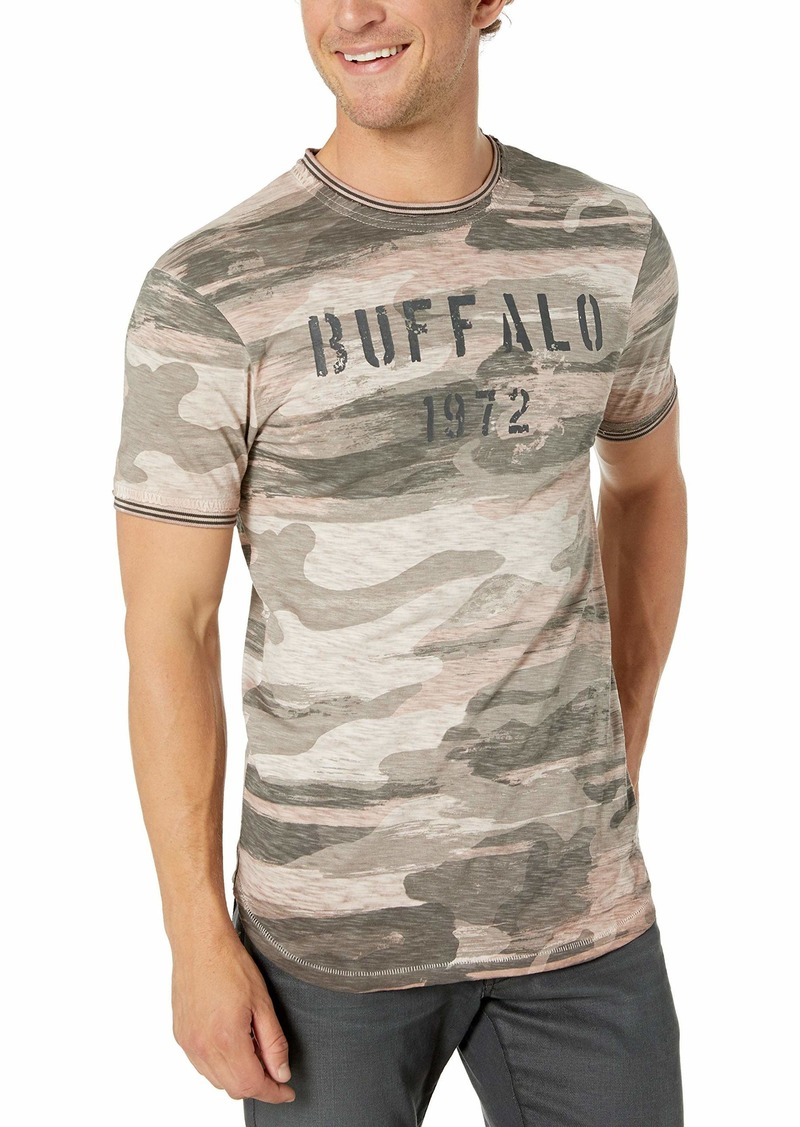 Buffalo Jeans Buffalo David Bitton Men's Short Sleeve Crew Neck slub Jersey tee Buffalo Graphic  X Large