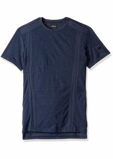Buffalo Jeans Buffalo David Bitton Men's Short Sleeve Crew Neck Soft Heather Jersey Midnight Blue