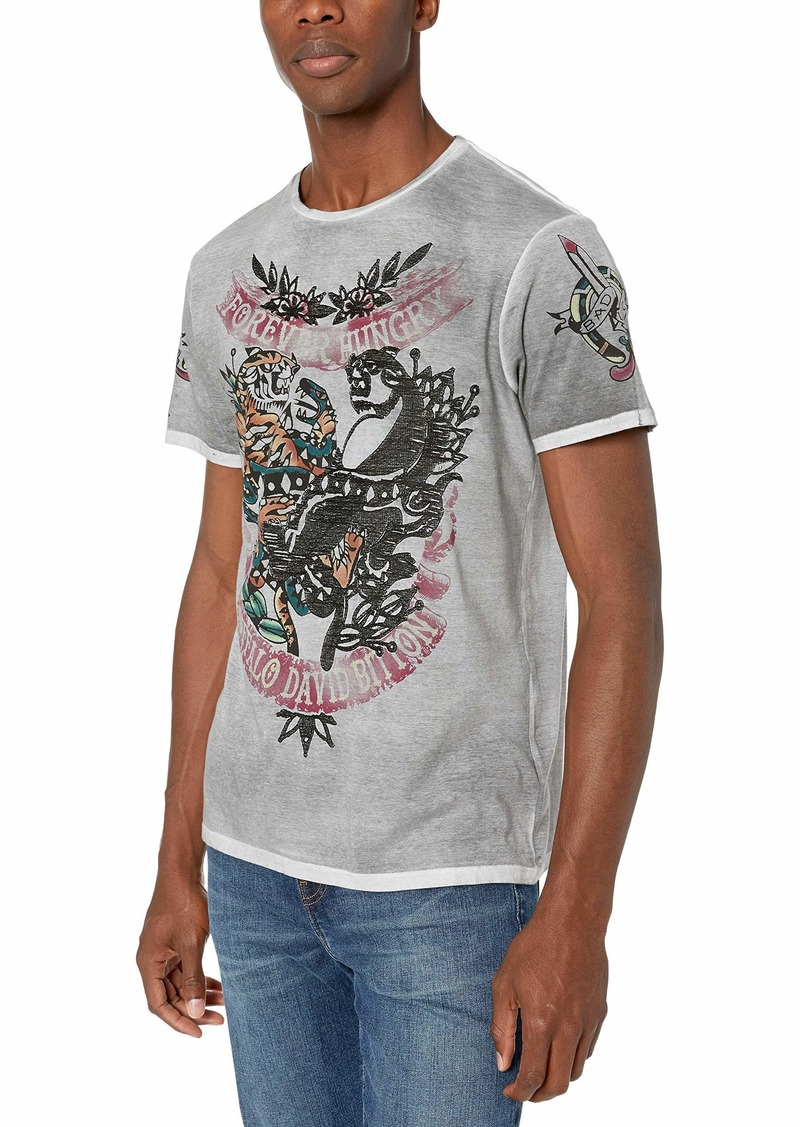 Buffalo Jeans Buffalo David Bitton Men's Short Sleeve Crew Neck Tatoo Panther Graphic tee