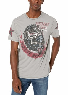 Buffalo Jeans Buffalo David Bitton Men's Short Sleeve Crew Neck tee with Front Wolf Graphic