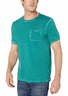 Buffalo Jeans Buffalo David Bitton Men's Short Sleeve Crew Neck Yarn Dyed Stripes tee