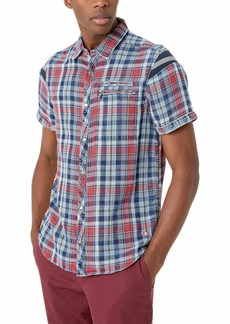 Buffalo Jeans Buffalo David Bitton Men's Short Sleeve Double face  Plaid Shirt