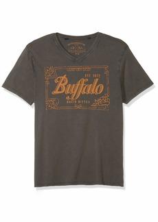 Buffalo Jeans Buffalo David Bitton Men's Short Sleeve Heavy Single v-Neck Jersey