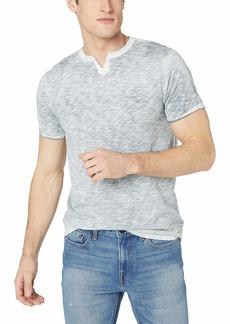 Buffalo Jeans Buffalo David Bitton Men's Short Sleeve Knit Split Neck slub Jersey