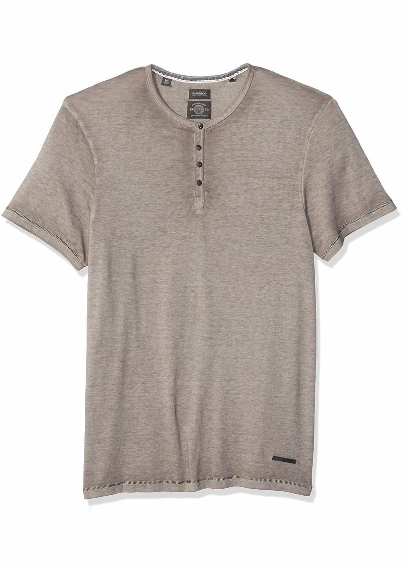 Buffalo Jeans Buffalo David Bitton Men's Short Sleeve Knit Y Neck Burnout Jersey