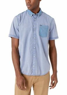 Buffalo Jeans Buffalo David Bitton Men's Short Sleeve Stretch Cotton Button Down Shirt